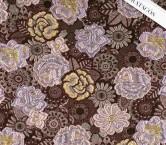 Brown pink jacquard flor lame