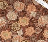 Beige brown jacquard flor lame