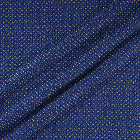 Jacquard geometrico azul naranja