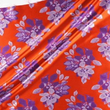 Jacquard flor lame teja violeta