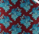 Jacquard flor lame burdeos turquesa