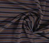 Jacquard rayas lavanda marron
