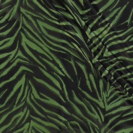 Jacquard lame verde