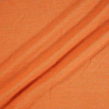 Orange jacquard lana