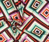 SatÉn estampado geometrico multicolor