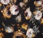 Brown turquoise estampado flor