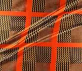 Mikado estampado geomÉtrico pano 53cm naranja