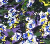 CrÊpe estampado flor gestual lila