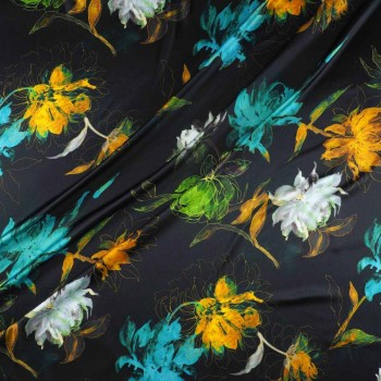 Turquoise green estampado flor
