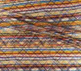 Mikado estampado pictÓrico fuxia violeta naranja