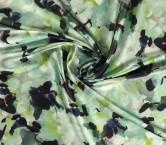 Mikado estampado flor verde turquesa