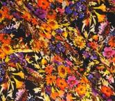 Raso estampado flores multicolor