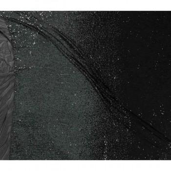 Degrade sequins negro plata