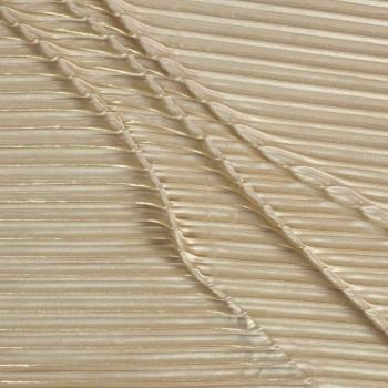 Golden plisado foil