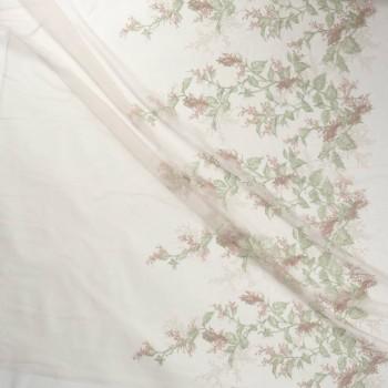 Broom  embroidery rosa verde