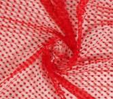 Bordado mini flor plisado rojo