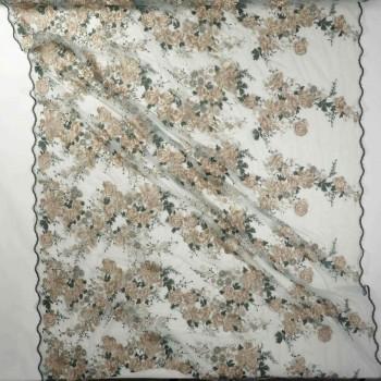 Bordado hilo metalico verde