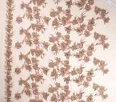Pink gold tul bordado flor