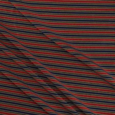 Jacquard rayas azul rojo