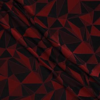 Jacquard geometrico rojo