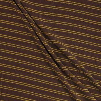 Brown yellow viscosa rayas