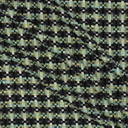 Jacquard lana lame verde