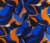 Mikado estampado azul naranja