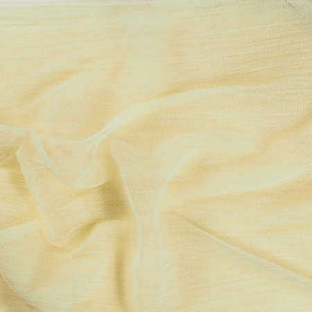 Yellow pleated tulle