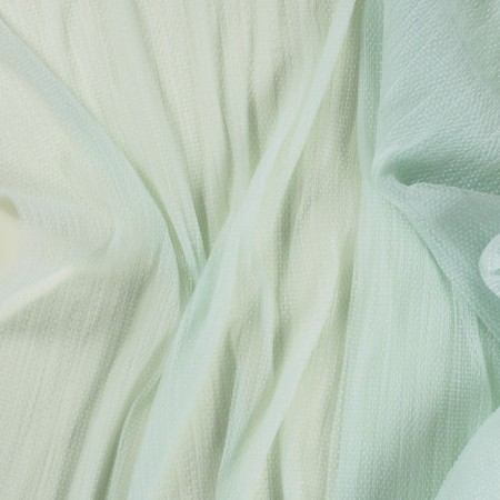 Green pleated tulle