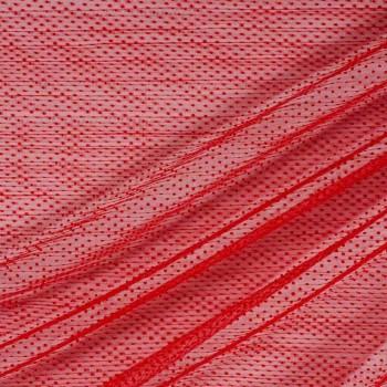 Tulle plisado rojo tul rojo