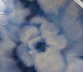 Georgette laminado pano 80 cm azul