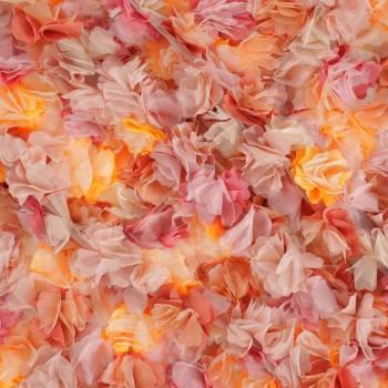 3d flores multicolor naranja
