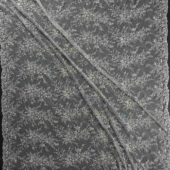 Bordado soft metalic emb. gris