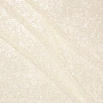 Ivory elastic mini sequins