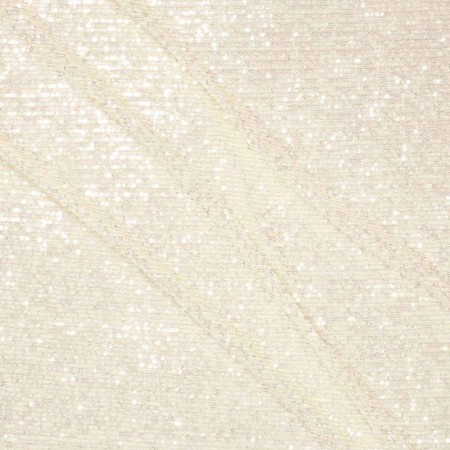 Ivory elastic mini sequins