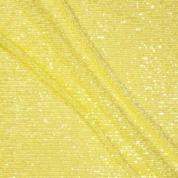 Yellow elastic mini sequins