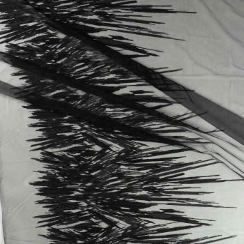 Bordado hilo metalico negro