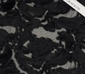 Fantasia organza cintas negro