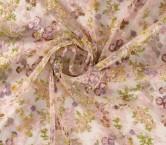 Bordado floral multicolor ii rosa