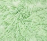 ChifÓn bordado cÍrculos 3d verde claro