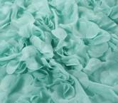 ChifÓn bordado cÍrculos 3d azul claro