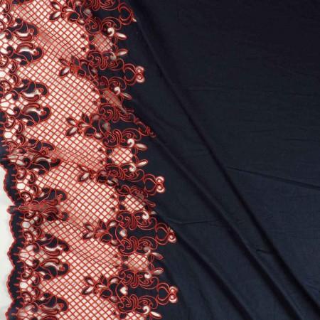 Bordado chemical lace-emb 42-45- navy