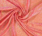 Coral oval hologram sequins