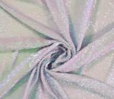 Oval hologram sequins lila