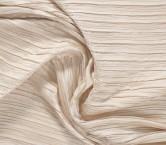 Plisado irregular beige
