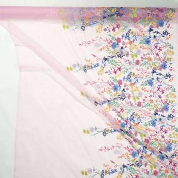 Pink bordado floral