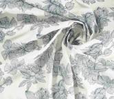 Bordado silver thread ivory