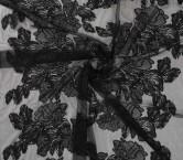 Bordado flor negro