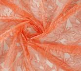 Bordado hojas naranja