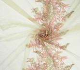Bordado floral -emb area 70-75- nude